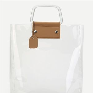 Handbags - Clear Tote Bag With Inner Pouch
